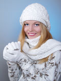 Winter portrait of a pretty girl Royalty Free Stock Image