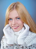 Winter portrait of a pretty girl Royalty Free Stock Photos