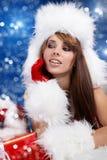 Winter portrait of a santa  woman Royalty Free Stock Photos
