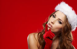 Winter portrait of a santa woman Stock Photography
