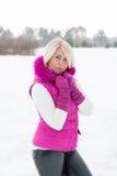 Winter portrait of sexy girl Stock Image