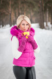 Winter portrait of sexy girl Royalty Free Stock Photography