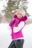 Winter portrait of sexy girl Royalty Free Stock Photos