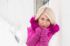 Winter portrait of sexy girl Royalty Free Stock Images