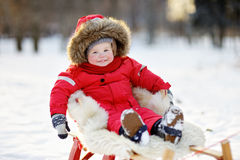 Winter portrait of toddler Royalty Free Stock Image