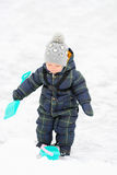 Winter portrait of toddler boy Stock Images