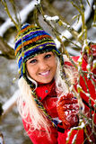 Winter portrait of a woman Stock Image