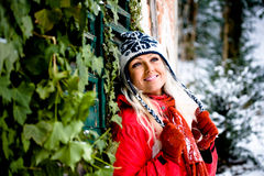 Winter portrait of a woman Royalty Free Stock Photography