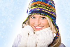 Winter portrait of a woman Royalty Free Stock Image