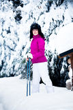Winter portrait of a woman Stock Photography