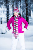 Winter portrait of a woman Royalty Free Stock Images