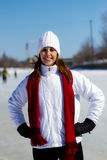 Winter portrait of a young, attractive woman Royalty Free Stock Image