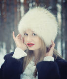 Winter portrait Stock Images
