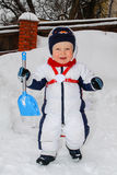 Winter portrait of young boy Stock Photography