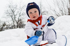 Winter portrait of young boy Royalty Free Stock Image