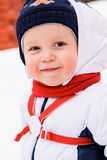 Winter portrait of young boy Stock Images