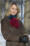 Winter portrait of a young woman Royalty Free Stock Image