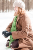 Winter portrait of young woman Stock Photography