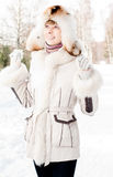 Winter portrait of young woman Royalty Free Stock Photo