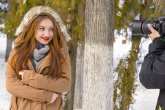 Winter Portret Royalty Free Stock Images