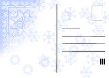 Winter post card. Winter grunge post card background with sno flakes vector illustration