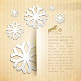 Winter post card. Winter post card with snowflake. Vector illustration Stock Image