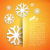 Winter post card. Stock Photo