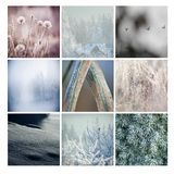 Winter postcard, mosaic Royalty Free Stock Photo