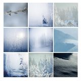 Winter postcard, mosaic Royalty Free Stock Images
