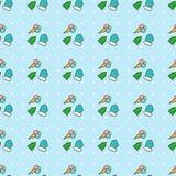 Winter postcard pattern Royalty Free Stock Image