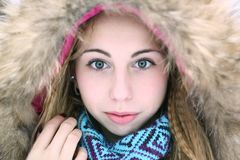 Winter potrait Royalty Free Stock Images