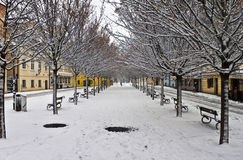 Winter in Prag Stockbilder