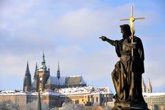 Winter Prag lizenzfreie stockfotos