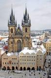 Winter Prag Lizenzfreies Stockfoto