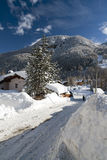 Winter in Pragelato Stock Photography