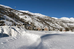Winter in Pragelato Royalty Free Stock Photos