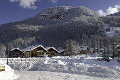 Winter in Pragelato Lizenzfreie Stockfotos