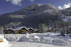 Winter in Pragelato Royalty Free Stock Photos