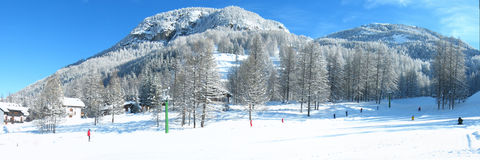 Winter in Pragelato Stock Photos