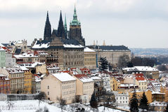 Winter Prague Royalty Free Stock Images