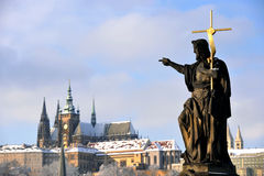 Winter Prague Royalty Free Stock Photos