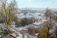 Winter in Prague Royalty Free Stock Photography
