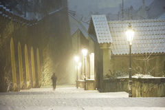 Winter in Prague Stock Photography