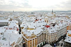Winter Prague Royalty Free Stock Photo