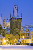 Winter Prague, Czech republic, Europe Royalty Free Stock Images