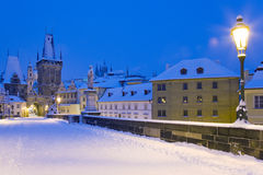 Winter Prague, Czech republic, Europe stock image