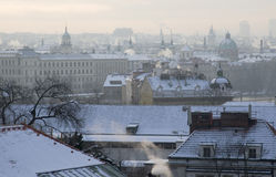 Winter in Prague Royalty Free Stock Photos