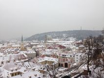 Winter in Prague Royalty Free Stock Images