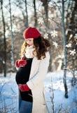 Winter Pregnancy Stock Photo
