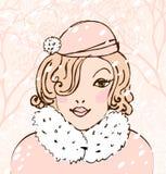 Winter pretty woman Royalty Free Stock Photos